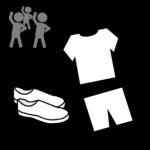 Piktogram med gymklær