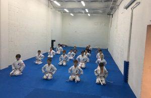 barn som driver karate