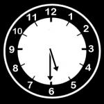 klokke som viser 17.30