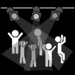 piktogram av personer som danser på diskotek