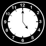 Klokke som viser at klokka er 5