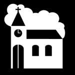 Piktogram av kirke