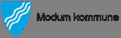 Kommunevåpen Modum kommune. Logo.